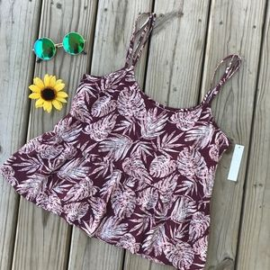 Abound Tropical Tank Top NWT